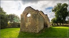 Bix Old Church (FlickrDelusions) Tags: stjames minoltaaf2485mmf3545zoom bixbottom bbowt panorama ruins church oxfordshre bix england unitedkingdom gb