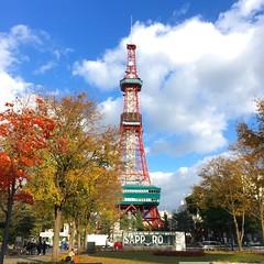 Sapporo TV tower (Aki (pumpkinbox)) Tags: iphone japan sapporo