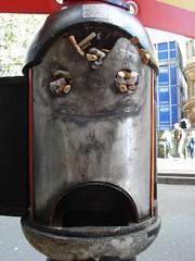 Sad face, Holborn (Joshua Gaskell) Tags: cigarettes london holborn sadface