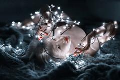 _DSC1489-3 (dmitriyyakushko) Tags: lights girl nu sexy newyear red lovely portrait beauty loveliness