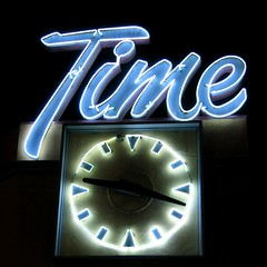 Time Deli Sign - San Jose, CA (hmdavid) Tags: sanjose california neon sign signage design time deli clock