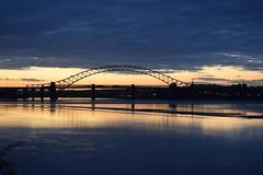 Silver Jubilee Bridge (jonknipe) Tags: bridge dawn sunrise runcorn widnes mersey siver jubilee silverjubileebridge