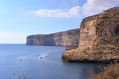 Xlendi cliffs (Ralph Apeldoorn) Tags: cliff gozo klif malta rock rots sea xlendi zee ilmunxar