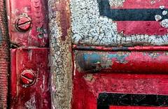 (rickhanger) Tags: rust rusty textures red firetruck