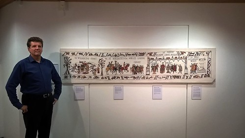 Alderney tapestry at Candie Museum Guernsey