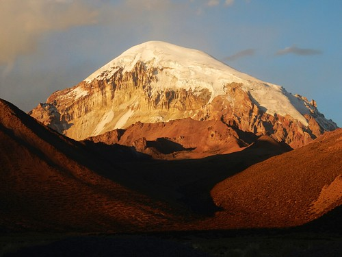 Sajama Volcano at sunset - Bolivia