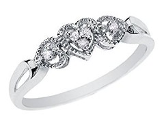 Diamond Heart Promise Ring in 10K White Gold, Size 7 (goodies2get2) Tags: 100to200 amazoncom bestsellers diamond gold
