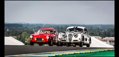 Jaguar XK 140 FHC (1955) & Fiat 8V Zagato (1953) (Laurent DUCHENE) Tags: peterauto lemansclassic 2016 bugatti fiat 8v zagato jaguar xk 140 fhc xk140
