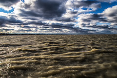 Lake St. Clair / Ontario (blergh.) Tags: lake st clair ontario belle river nikon d600 2485mm clouds water waves weather