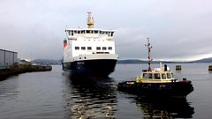 Scotland Greenock car ferry Argyle being towed into the ship repair dock 18 November 2016 video by Anne MacKay (Anne MacKay images of interest & wonder) Tags: scotland greenock caledonian macbrayne car ferr argyle being towed ship repair dock 18 november 2016 video by anne mackay xs1