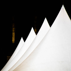 peaks (morbs06) Tags: abstract architecture building city colour curves detail light lines marquee shadow square streets stripes tent theater urban white k dsseldorf
