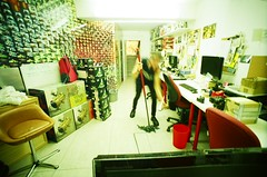(golfpunkgirl) Tags: lgs lomo lomography gallerystore store exhibitin office work lcwide 17mm film lomographyxpro