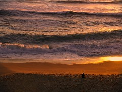 You can see better from here. (Marc ALMECIJA) Tags: sunset sunrise mer ocean water orange beach