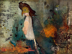 A Winter's Dream (jimlaskowicz) Tags: netartll wings snow curious typography mask birds impressionistic art surreal painterly artistic promise dream winter