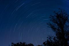 Neverland (TheTimeVoyager) Tags: stars night lowlight startrail longexposition polarstar nature wilderness sky backpackers
