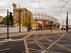 PA174435 Urban street scenes (Paul S. Jenkins) Tags: manchester victoriastation architecture cityscape tramlines urban england unitedkingdom gb