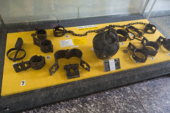 Medieval hand and foot irons (quinet) Tags: 2014 allemagne deutschland folter germany handschellen medievalcrimeandpunishmentmuseum mittelalterlicheskriminalmuseum mdival rothenburg chanes fers handcuffs irons manacles menottes shackles torture