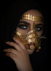 These old fires... (DesertWindsPhotography) Tags: jewelry makeup art blue gold red india arab arabic uae qatar saudi arabia black colorful morocco fabric hijab green women portrait indoor bright background bedouin desert eyes culture emirate people