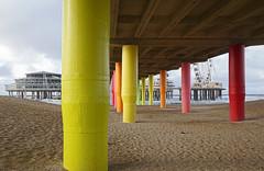 under the boardwalk....down by the sea (leuntje) Tags: scheveningen netherlands denhaag zuidholland pier scheveningsepier beach northsea boardwalk seaside explore