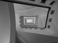 higher and higher (rainerralph) Tags: leipzig olympus architektur treppenauge sachsen treppen germany staircase architecture saxonia omdem5markii stair objektiv714pro treppe