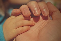 Playing with my little daughter (Pztryk) Tags: macromondays daily routine hands