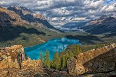 Jewel of the Rockies (Philip Kuntz) Tags: peytolake peytoglacier waptaicefield icefieldsparkway bowsummit rockflour stormy lakes reflections banffnationalpark banff alberta canada caldronpeak