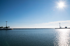 Beautiful day (Alicia FB) Tags: sun bridge water fleuve tage lisbon lisbonne portugal lisboa soleil blue landscape city
