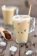 Instant Iced Coffee (HappyFoods Tube) Tags: iced cold coffee dring instant refreshing summer ice frappe rustic wooden