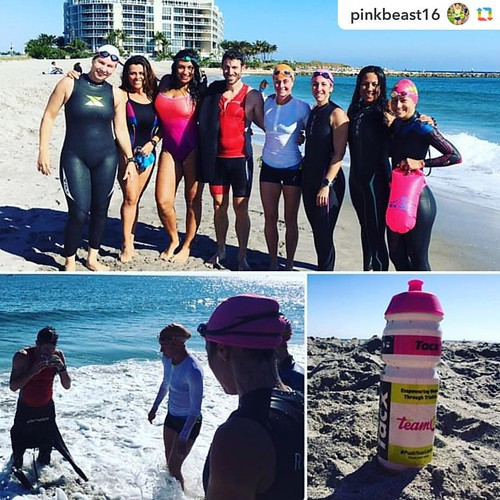 Where in the world is the New Wave Swim Buoy now? South Inlet Park Beach Boca Raton Florida!  @pinkbeast16:What an amazing morning helping with an #ows clinic 🏊‍♀️ these amazing ladies practiced sighting with my @newwaveswimbuoy entering and exiti
