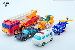 G2_Protectobots_vehicles (Weirdwolf1975) Tags: tfylp transformers podcast megatoyfan g2 generation2 defensor protectobots streetwise firstaid blades groove hotspot stunticons menasor motormaster deadend wildrider breakdown dragstrip unreleased