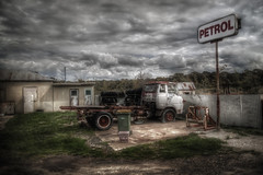 Petrol Station (Edward Lyons) Tags: gas station countryside petrolstation scary old brokendown neglected deteriorated truck broken seedy decrepit dilapidated slummy