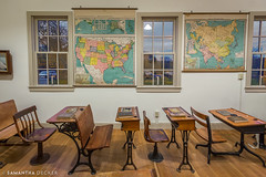 One Room Schoolhouse (Samantha Decker) Tags: canonef1635mmf28liiusm canoneos6d capecod eastham easthamhistoricalsociety ma massachusetts newengland outercape samanthadecker uwa classroom wideangle