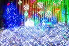 Christmas lights (Keda Rake) Tags: christmas lights abstract black background lines texture diagonal architecture building structure pattern night structurebuildingpattern cross shine merry japan