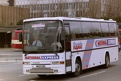 PARKS OF HAMILTON M627FNS (bobbyblack51) Tags: parks of hamilton m627fns volvo b10m60 jonckheere deauville national express rapide buchanan bus station glasgow 1996