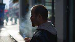 Mr Smoke (Stefan Waldeck) Tags: man smoking cigarette smoker street templebar dublin ireland 2016 netzki stefanwaldeck stefan waldeck
