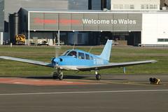 G-BNMB. (aitch tee) Tags: cardiffairport aircraft generalaviation aeros gbnmb cwlegff maesawyrcaerdydd walesuk pa28 cherokeewarrior