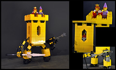 Yellow Castle (spencerwinson) Tags: lego toys mech mecha castle