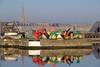 Couleurs malouines. (Jc Mercier) Tags: buoy saint malo saintmalo bretagne brittany cotedemeraude côtedemeraude bouvet bassinbouvet couleurs bouées flotteurs fortifications