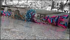 Pesca, Dja'louz, Caligr, Debs & Name (Chrixcel) Tags: paris graffiti debs name tags graff perso fresque décor psh scène tpn 2ac désaturation lettrages djalouz