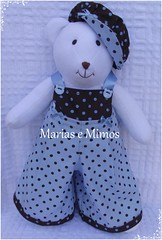 Ursinhos Marrom e Azul - Cludia (Marias e Mimos) Tags: flordetecido ursosdetecido ursinhomarromeazul decoraomarromeazul lembrancinhamarromeazul tricicloemmdf carrodemoemmdf