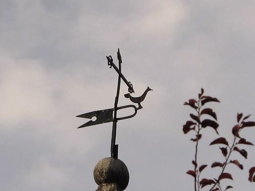 veleta con un ave