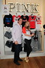 Model Elsa Hosk and Miami Marlins baseball player Logan Morrison Victoria's Secret PINK Nation Launches MLB Collection at Dolphin Mall Miami, Florida