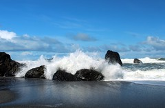 Splash (Cole Chase Photography) Tags: beach canon pacific pacificocean redwoodnationalpark t3i crashingwaves redwoodcoast humboldtlagoonsstatepark redwoodnationalstateparks humboldtlagoon