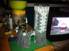 Castle WIP (Jeroen_K) Tags: mountain tower castle rocks lego medieval knights moc kingdoms