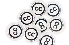 Creative Commons - cc stickers by Kalexanderson, on Flickr