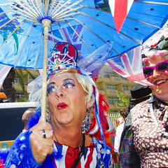 Maspalomas Gay Pride 2012 (Alex Bramwell) Tags: gay man grancanaria umbrella drag spain parade queen parasol british gaypride dragqueen maspalomas