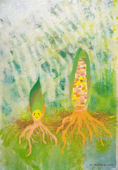 IF:kernel (whya) Tags: plant illustration digital photoshop watercolor corn story illustrationfriday if watercolour childrensbook whya leafbear leafbearstudio