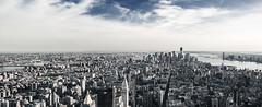 New York City (Bechkoev) Tags: ocean nyc newyorkcity panorama usa skyline skyscraper photoshop canon eos worldtradecenter broadway may 5thavenue sigma atlantic mai timessquare eastriver 5d hudsonriver empirestatebuilding wtc retouch 2012 atlantik wolkenkratzer 1530 ozean canoneos5d sigma1530
