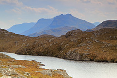 Hazy Day In The Hills. (Gordie Broon.) Tags: summer mountains nature landscape geotagged photography scotland scenery alba scenic escocia hazy schottland westerross ecosse munro lochan scottishhighlands corbetts northwestscotland beinndeargbheag beinndeargmor canon1755mm beinn