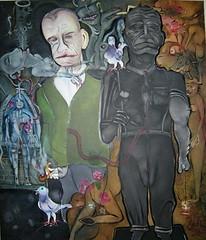 LA TENTATION DE POLYCARPE (Claude Bolduc) Tags: artsingulier artbrut outsiderart selftaugh autodidacte intuitiveart surrealism lowbrow visionaryart